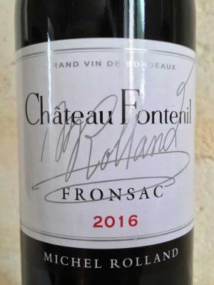 Étiquette de vin Château Fontenil