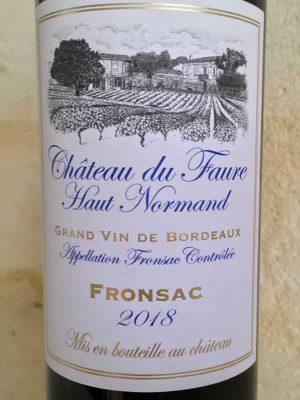 Label Château du Faure Haut Normand