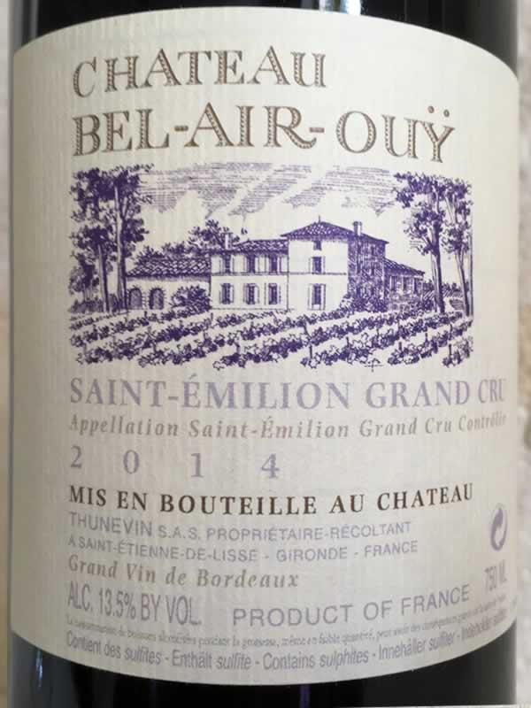 Chateau Bel-Air-Ouy Label