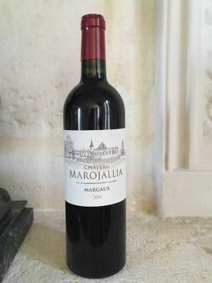 Bottle of Chateau Marojallia red wine from the Bordeaux region