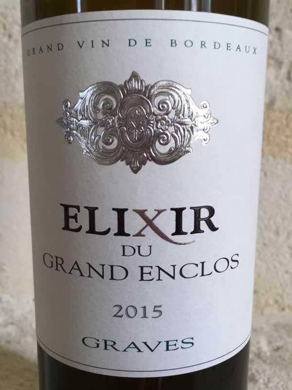 Label lixir Blanc du Grand Enclos