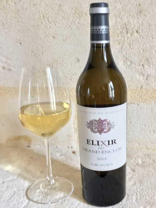 Elixir Blanc du Grand Enclos avec Verre à Vin