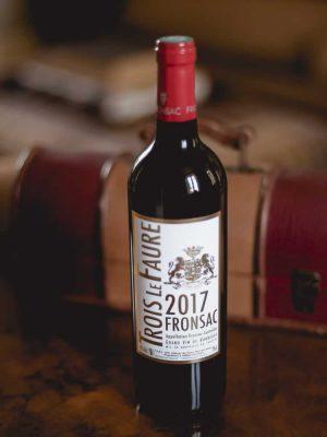 Trois Le Faure Bottle of Bordeaux Red Wine