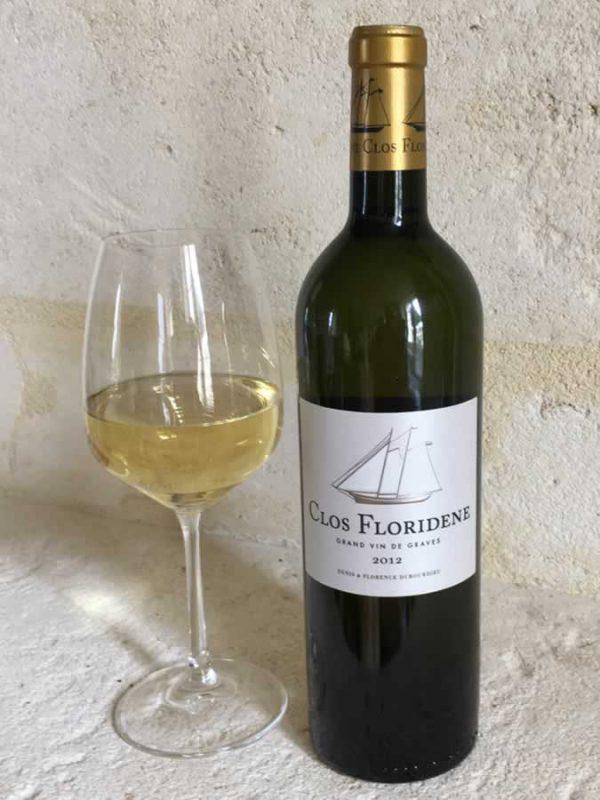 Clos Floridene with Wine Glass