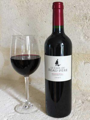 Clos du Beau Père with Wine Glass