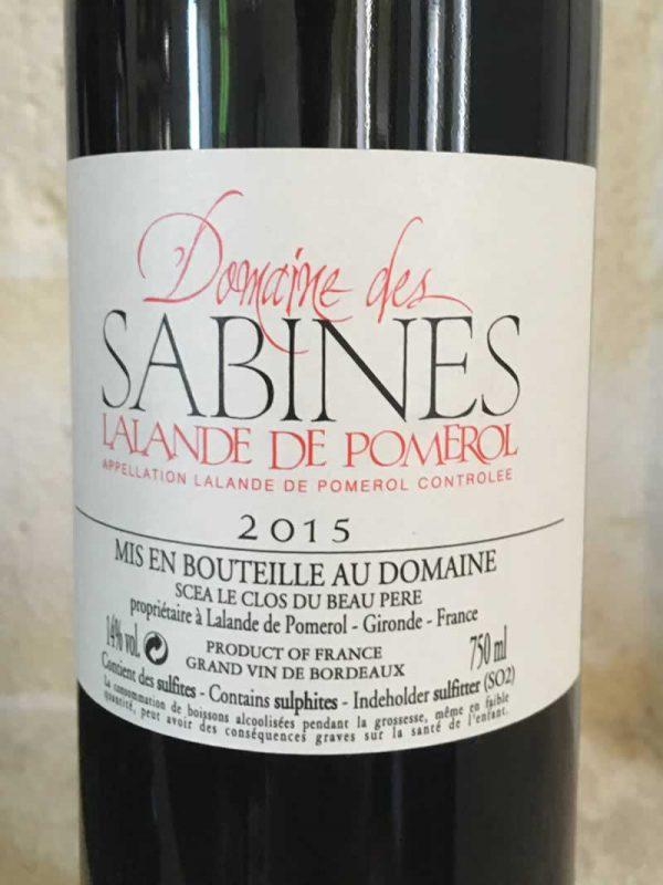 Domaine Des Sabine Wine Label